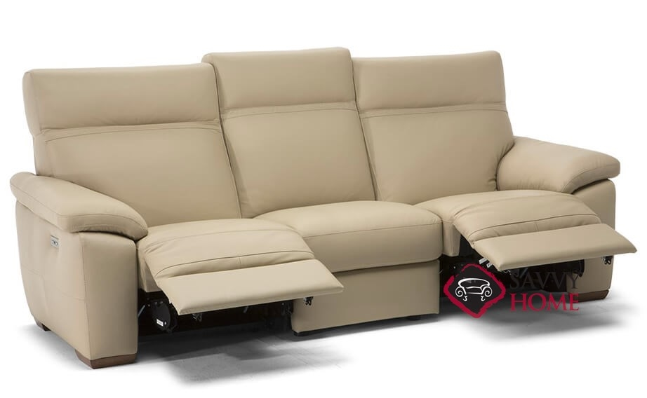 empatia c007 355 power reclining leather sofa by natuzzi