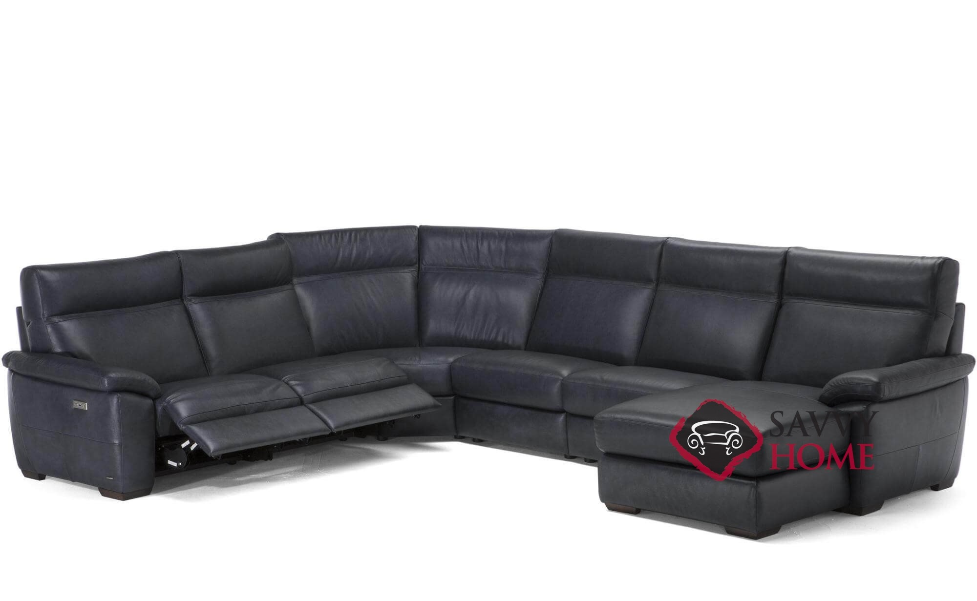 Empatia C007 047 049 291 291 029 638 514 515 Power Reclining Leather True Sectional Sofa With Chaise By Natuzzi