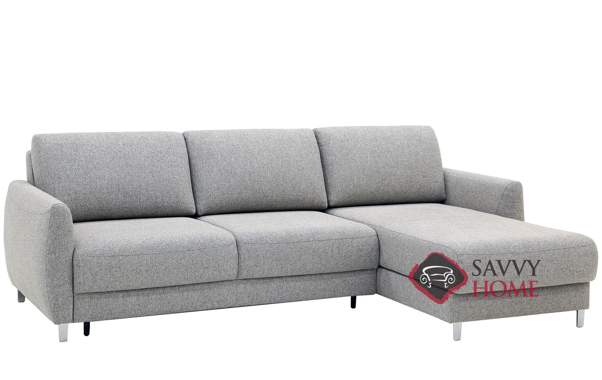 Quick Ship Delta Fabric Sleeper Sofas Chaise Sectional In By Luonto With Fast Shipping Savvyhomestore Com