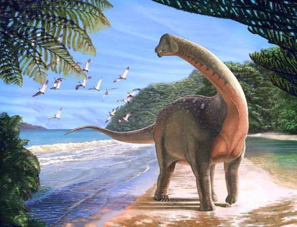 Life reconstruction of Mansourasaurus shahinae. Image credit: Andrew McAfee, Carnegie Museum of Natural History.