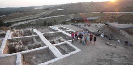 The ruins of the 3,100-year-old Canaanite temple at Tel Lachish, Israel. Image credit: Fourth Expedition to Lachish.