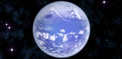 An artist's impression of a water-world planet. Image credit: Sci-News.com.