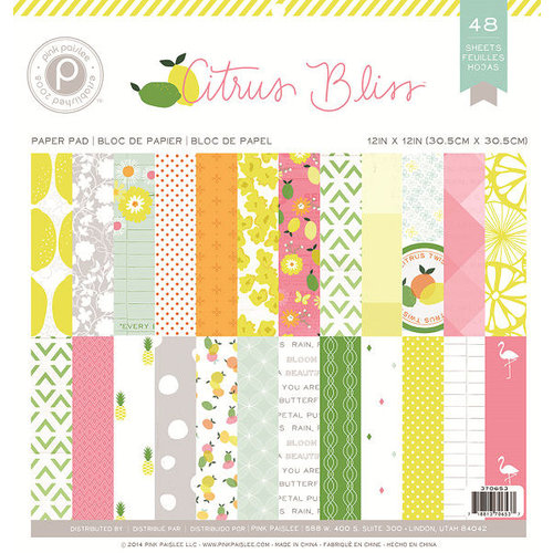 Pink Paislee - Citrus Bliss Collection - 12 x 12 Paper Pad