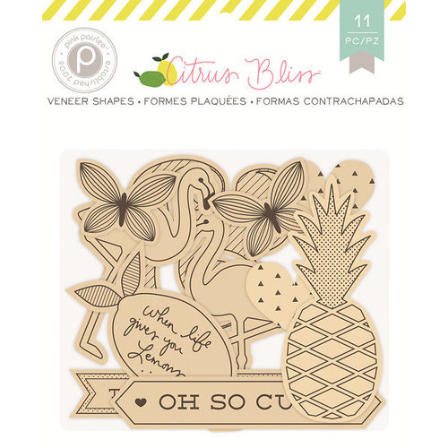 Pink Paislee - Citrus Bliss Collection - Wood Veneer Shapes