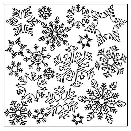 The Crafter's Workshop - 12 x 12 Doodling Templates - Flurries