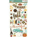 Simple Stories - Pumpkin Spice Collection - Chipboard Stickers