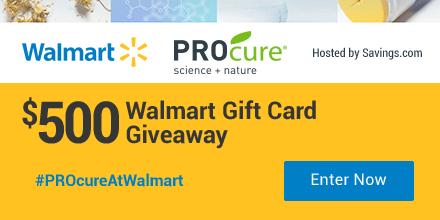 Enter to win a $50 Walmart gift card!