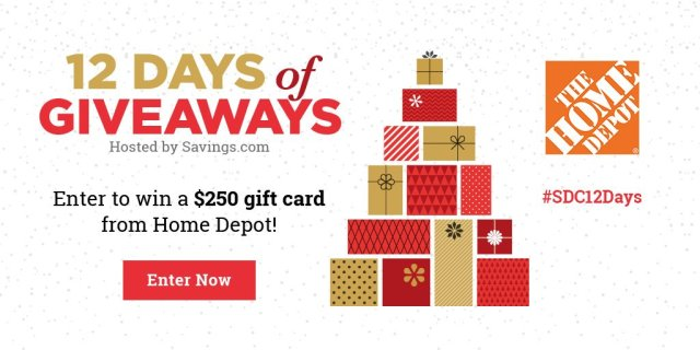Win a $250 gift card from The Home Depot!