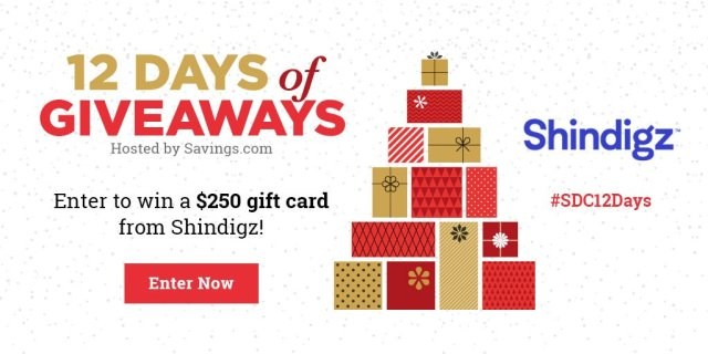 Win a $250 gift card from Shindigz!