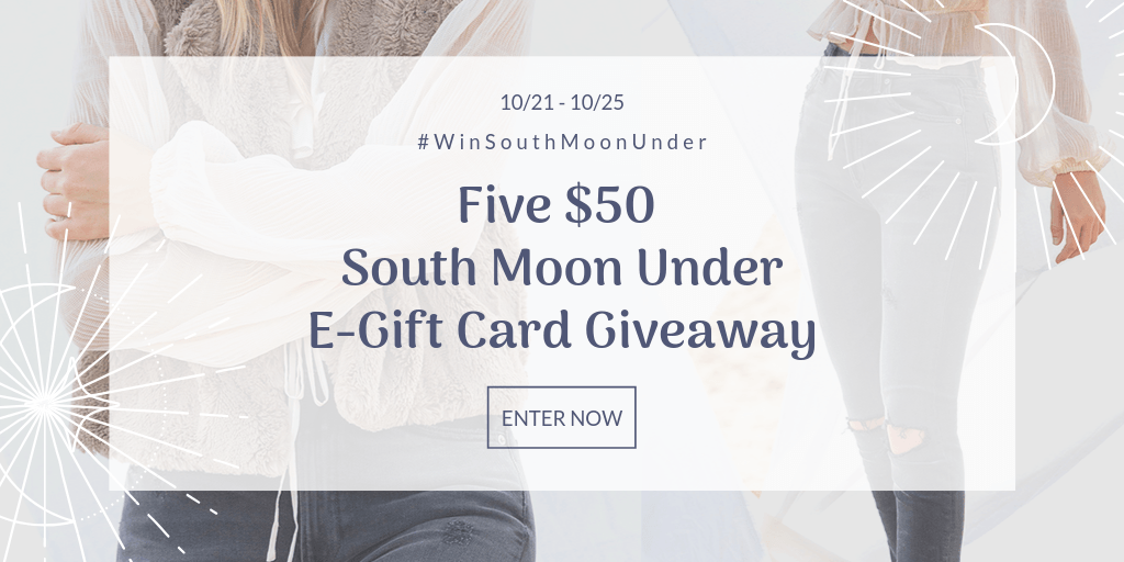 Win a $50 E-gift Card to South Moon Under