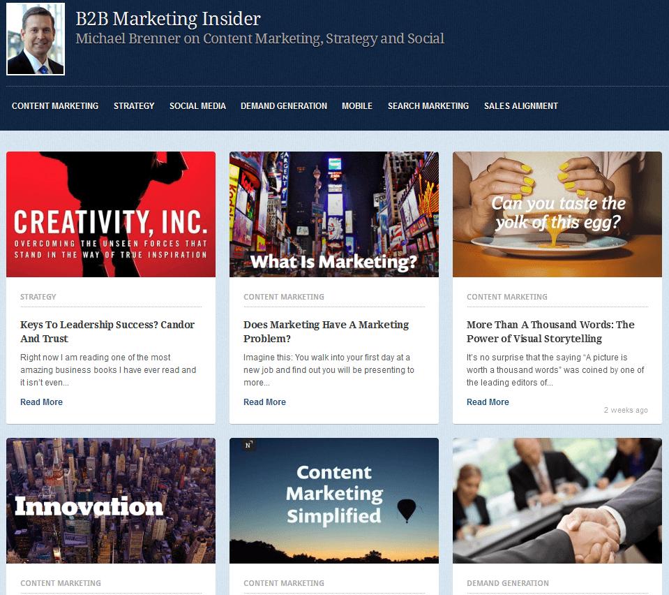 2014 07 02 20 38 39 Michael Brenner on B2B Marketing and Social Business   B2B Marketing Insider SEOlympics: Best Marketing Blogs of the US East