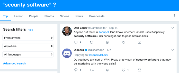 Security Software Questions