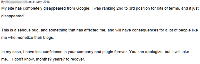 Disgruntled Yoast SEO Plugin User Lost Confidence in Yoast SEO