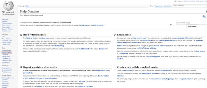 wikipedia help centre