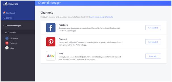 BigCommerce Dashboard Screenshot
