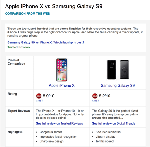 Bing Introduces Phone Comparisons and Product Insights in Search Results