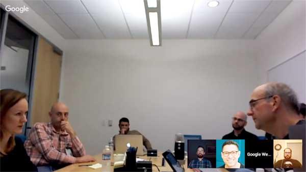 Screenshot of a Google Webmaster Hangout with John Mueller