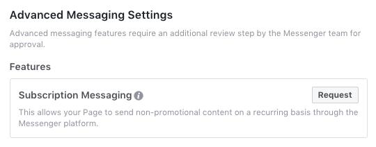 Advanced Messaging Settinigs