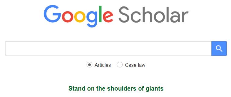 google scholar screenshot