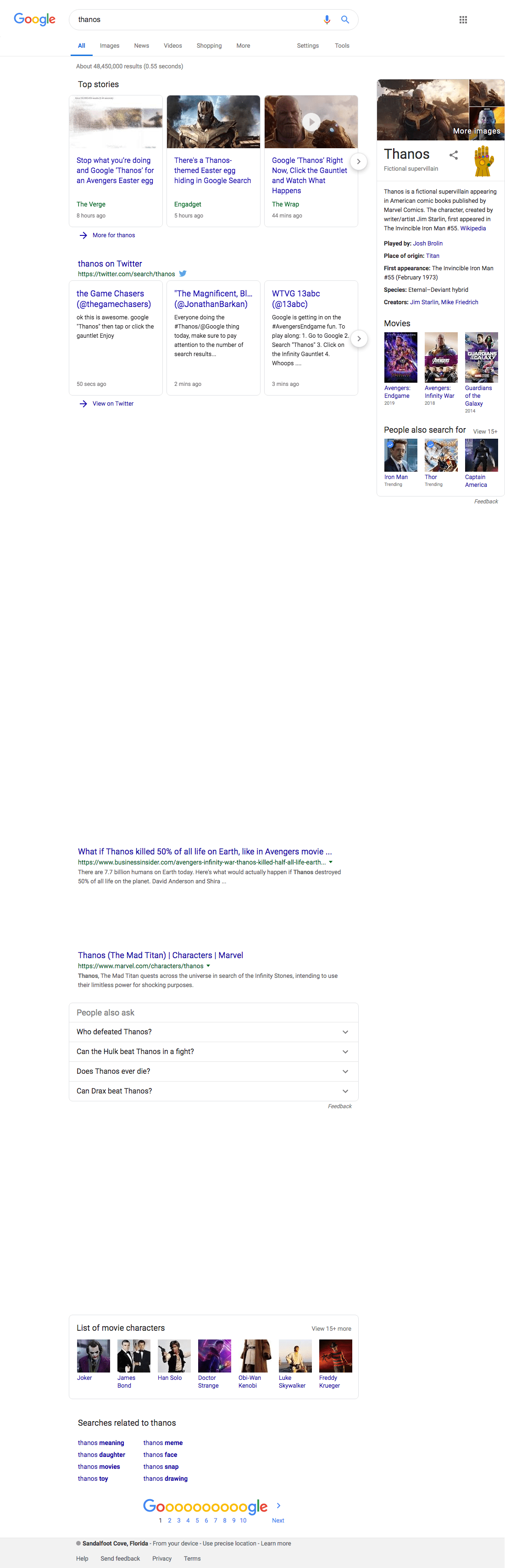 Half of all Google search results