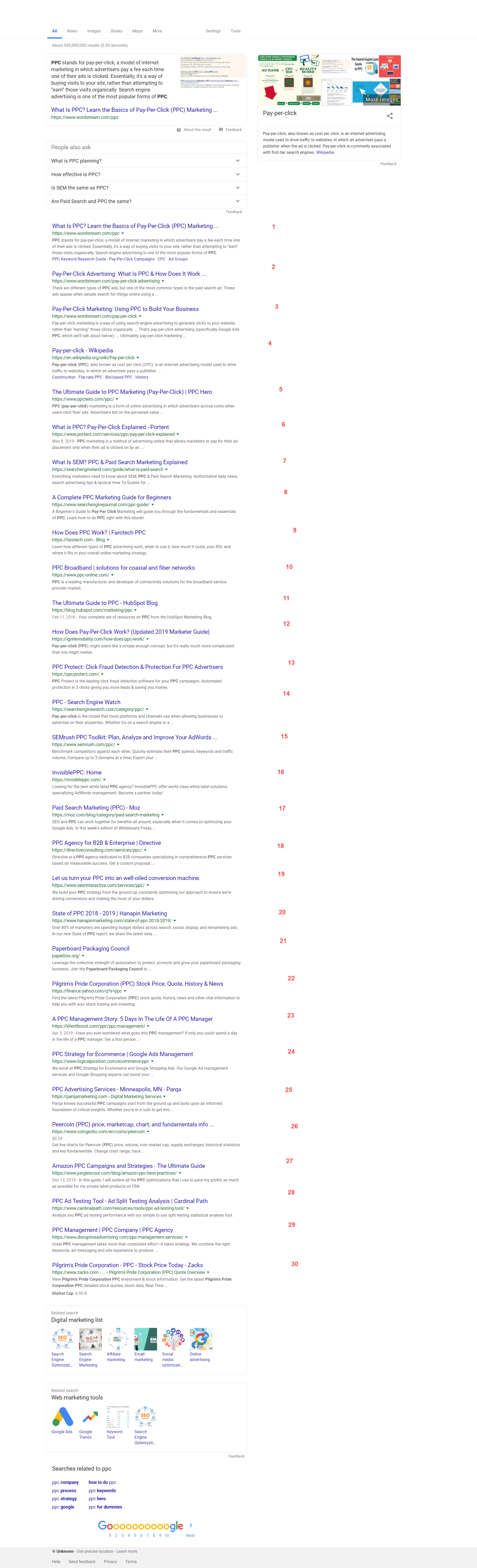 Google Displays an Unusual SERP With 30 Results