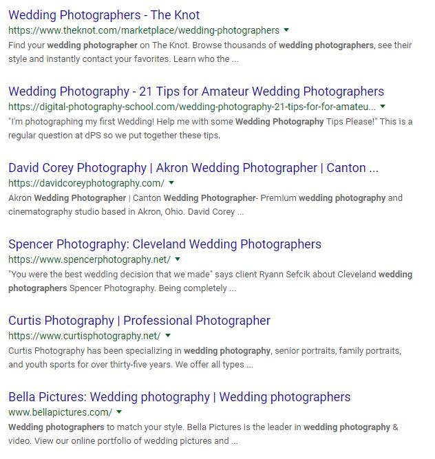 Wedding photographer screenshot