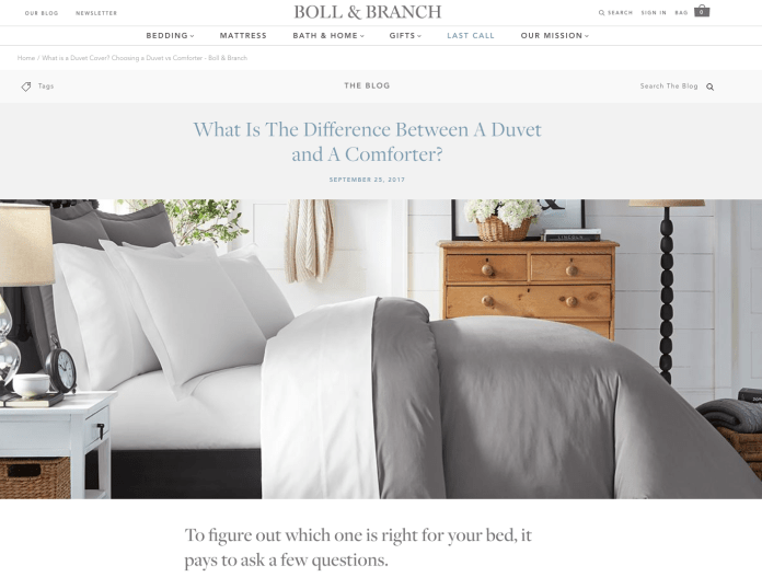 boll branch thread count