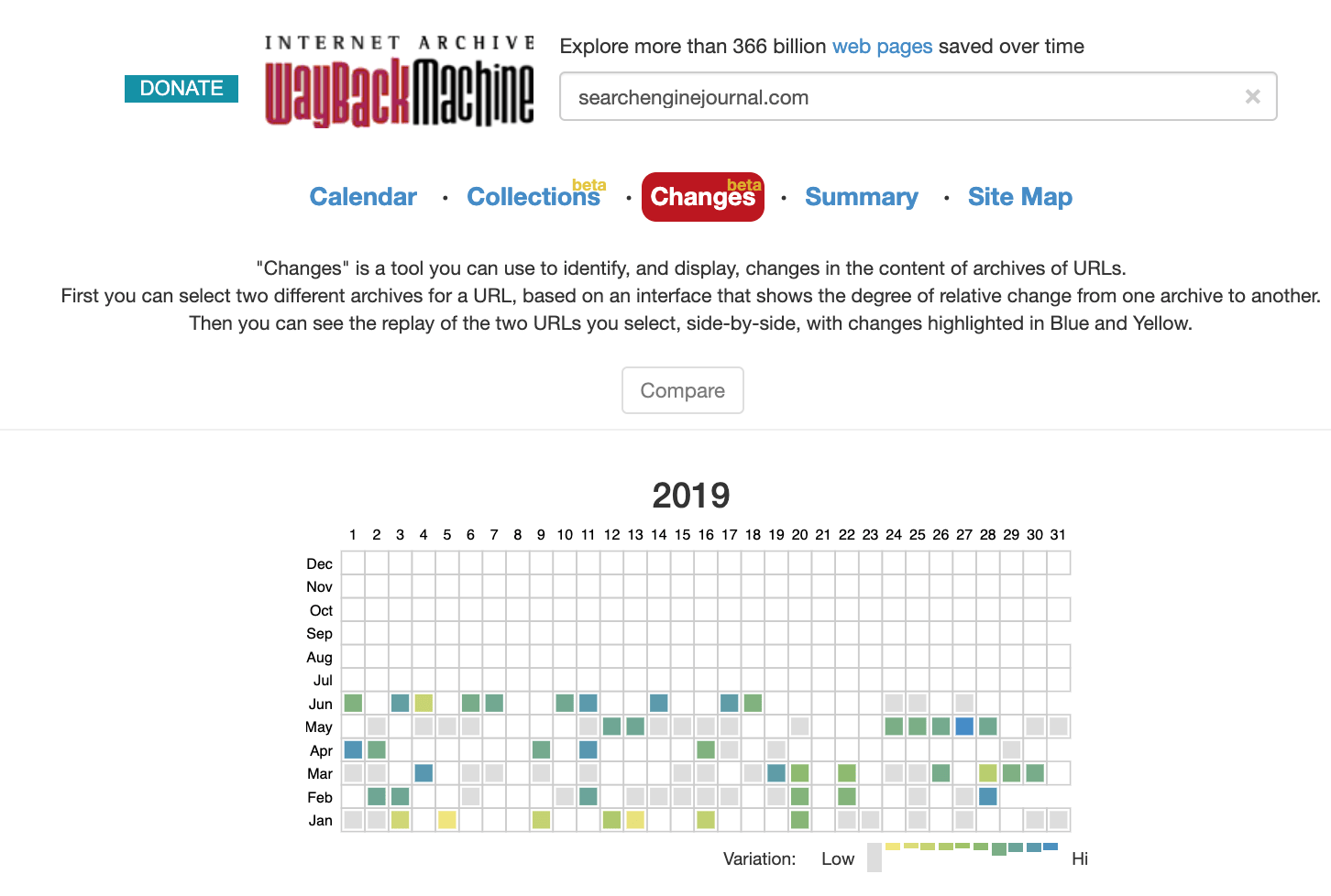 Wayback Machine Now Shows When a Page Was Updated and What Changed