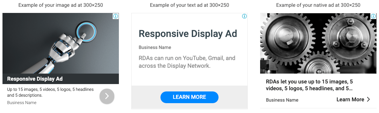examples of responsive display ads