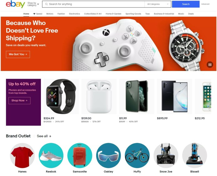 ebay home page