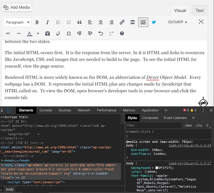 view-rendered-html-developers-tools
