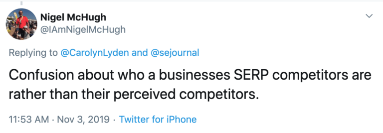 11. Being Unaware of Competitors