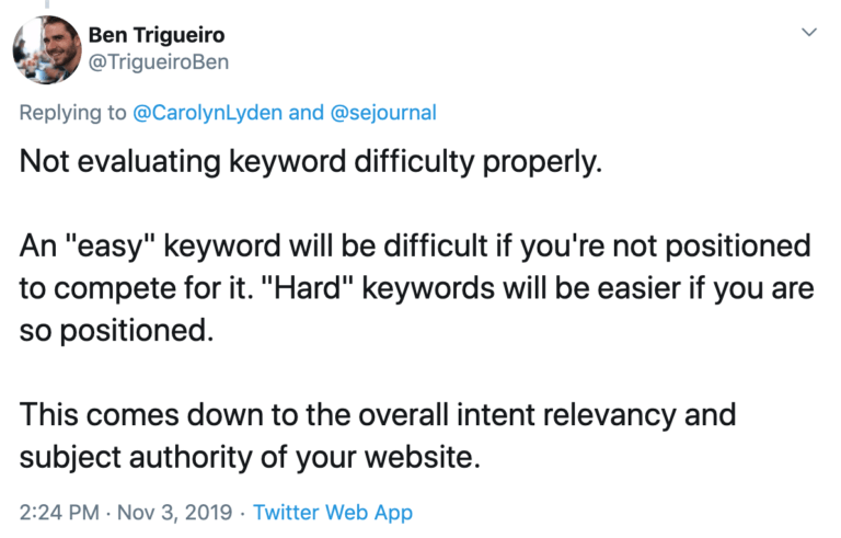 12. Not Evaluating Keyword Difficulty Properly