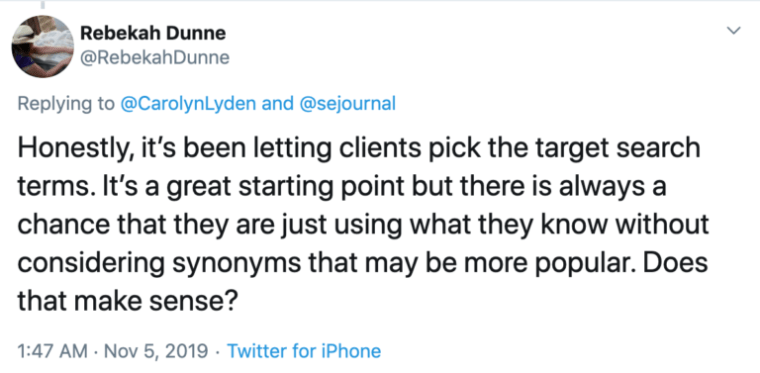 13. Letting Clients Pick the Search Terms