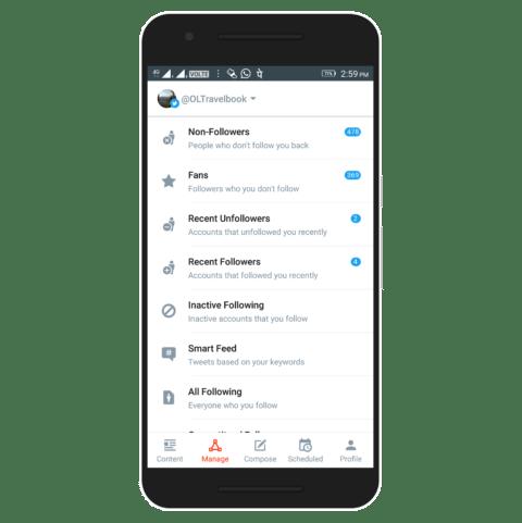 Crowdfire Twitter App