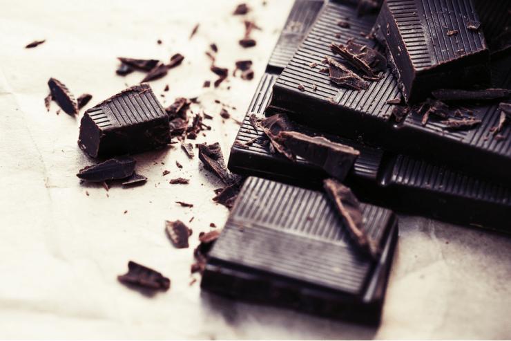 dark chocolate coffee flavored bar