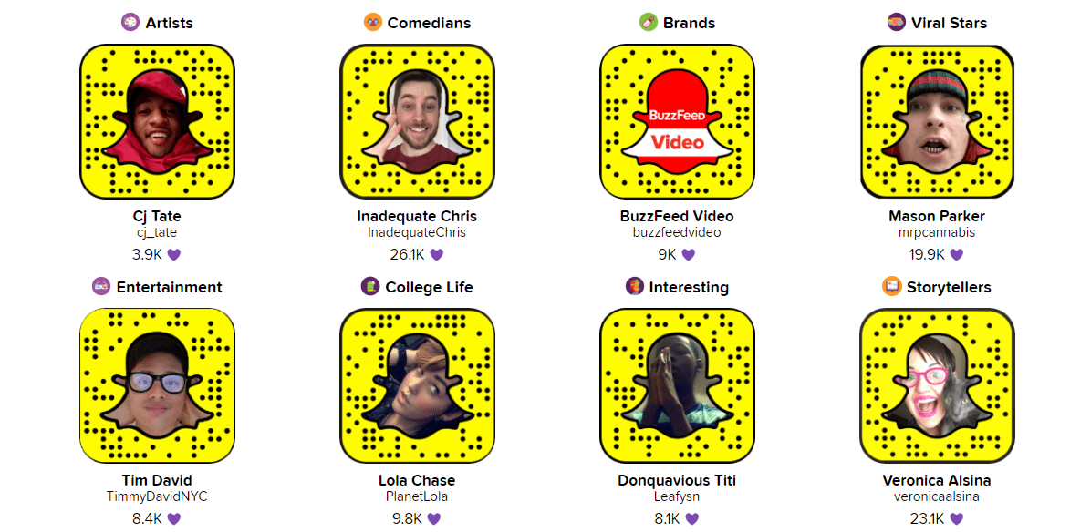 featured ghosties on Snapchat