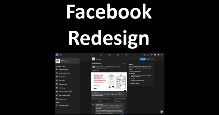 Facebook Redesign is Bold and User Friendly