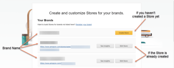 An image showing how to create a new store
