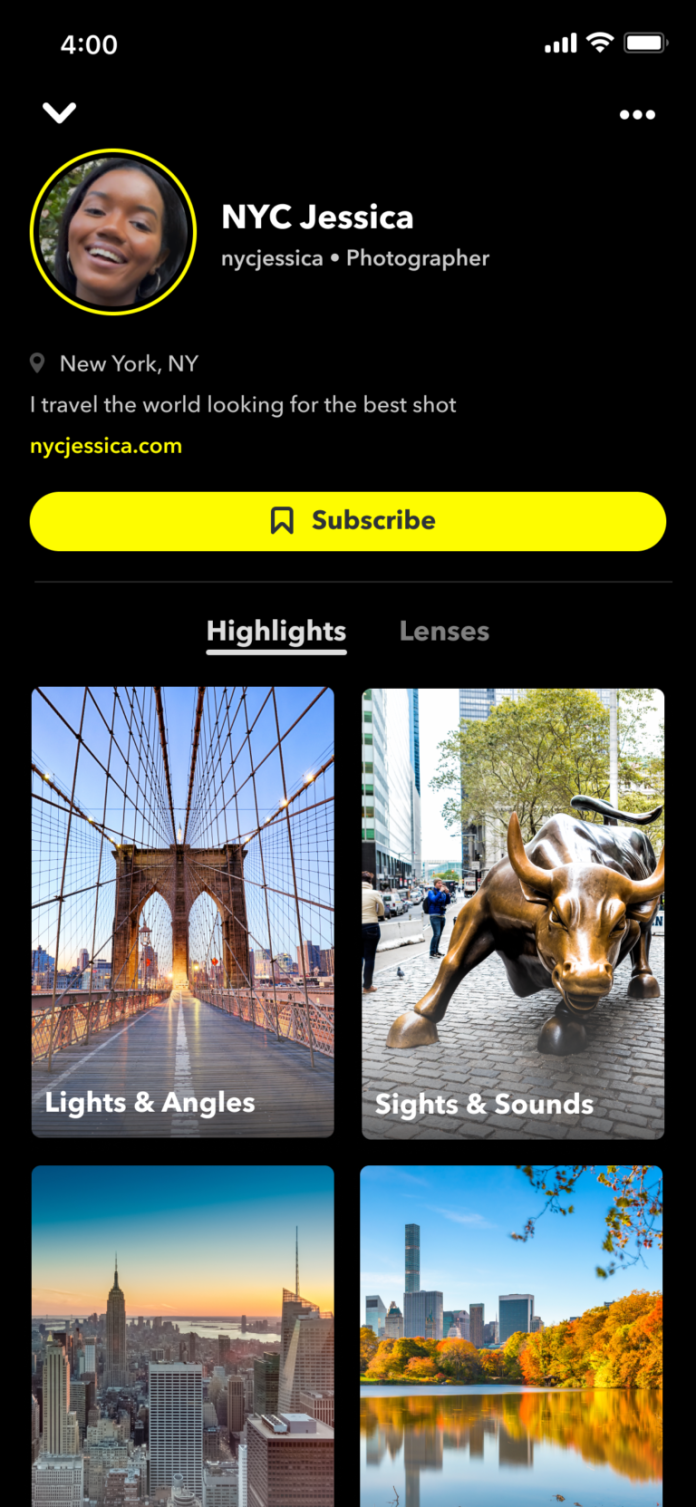 Snapchat Lets Users Display Follower Counts