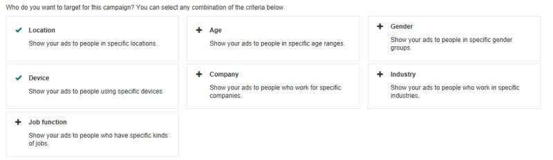 Enhanced LinkedIn targeting