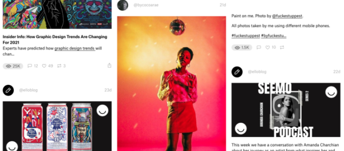 Ello is an alternative to Pinterest for creators and artists.