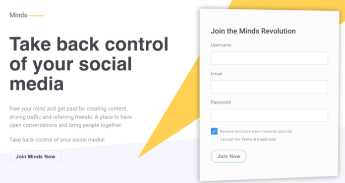 """Minds tells users to 'Take back control of your social media"""""""