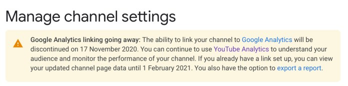 Google Analytics Stops Collecting Data From YouTube Channels