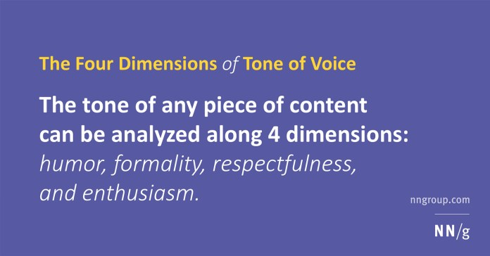 four dimensions of tone of voice