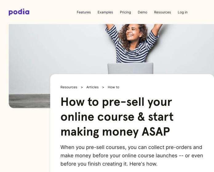 podia product blog post