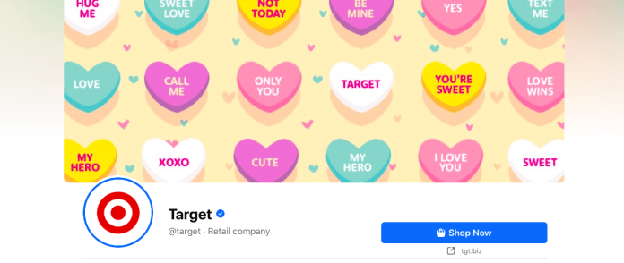 Facebook cover image CTA - Target example