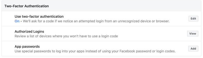 Enable two-factor authentication.