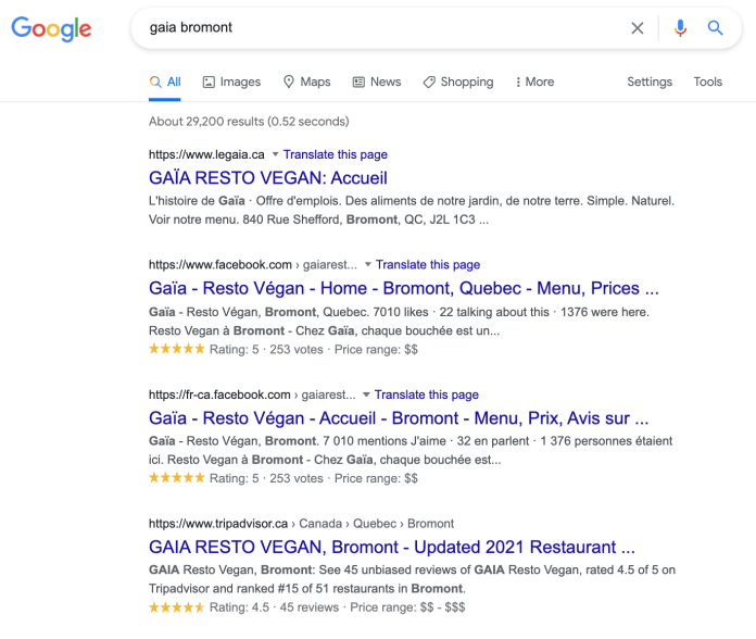 Gaia Restaurant Google Search.