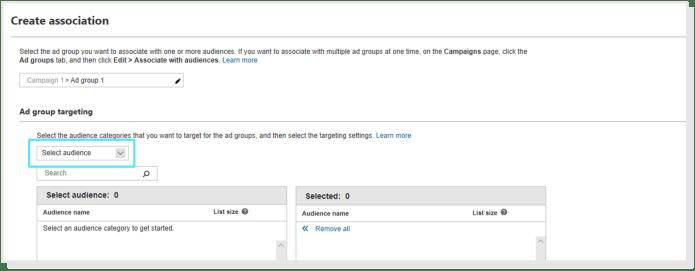 Associate Microsoft Audiences for Lookalikes
